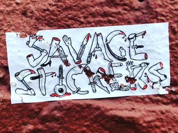 Savage Stickers – Eggshell